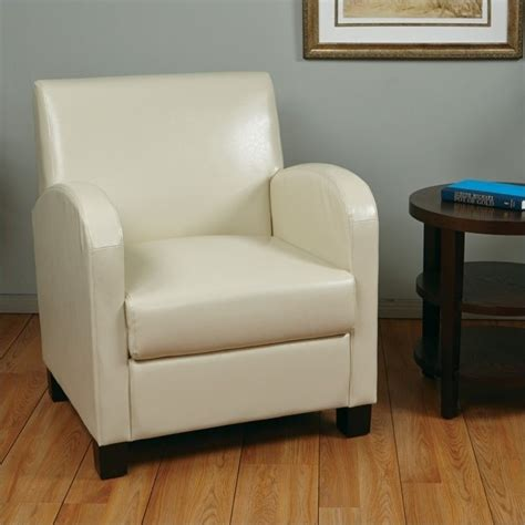eco leather club chair in ivory met807rcm