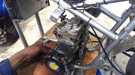 49cc cat eye pocket bike engine youtube