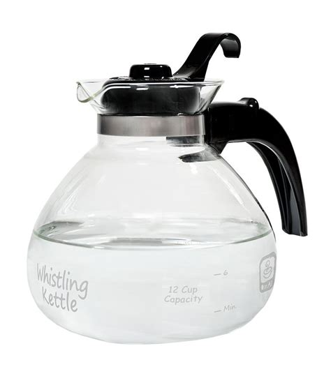 kettle tea glass cup stove kettles whistling stovetop water medelco electric rated cups
