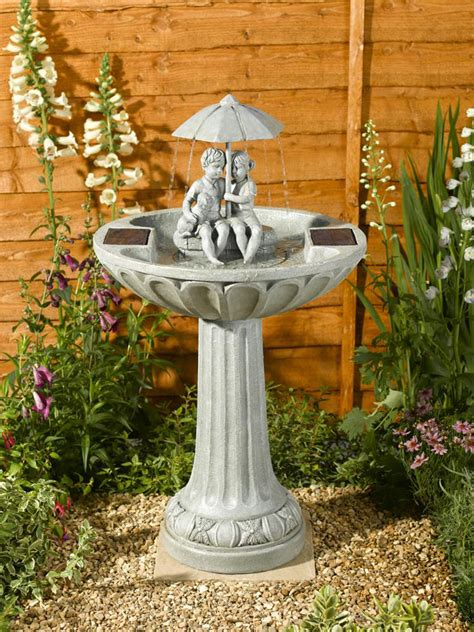 solar garden fountains smart solar umbrella garden water feature water