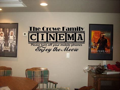 cinema theatre customized sign home  theater vinyl