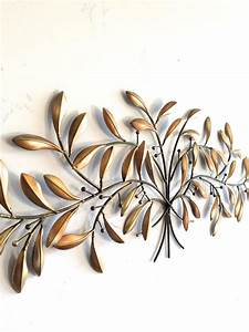 Leaf wall art gold metal decor home