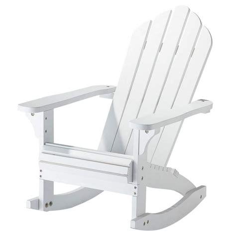 fauteuil 224 bascule enfant en bois massif blanc cape cod