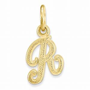 10k yellow gold initial letter alphabet charm pendant ebay With letter jewelry pendants