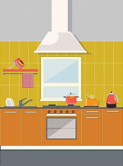 Kitchen Vector Counter Clip Illustrations Illustration Similar