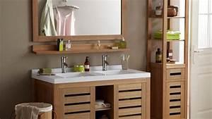 impressionnant meuble de salle de bain en bois exotique With meuble de salle de bain en bois exotique pas cher