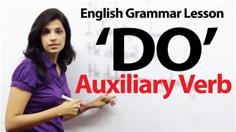 """English Grammar Lessons  Auxiliary Verb  'do"""" Youtube"""