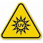 Uv Symbol Hazard Clipart Warning Iso Sign