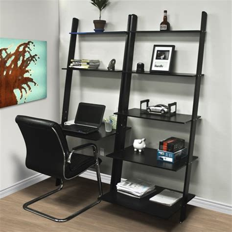 desk with bookcase attached furnishing your home office harlan style leaning ladder