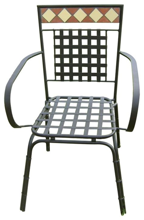 powder coated wrought iron chair for garden and patio