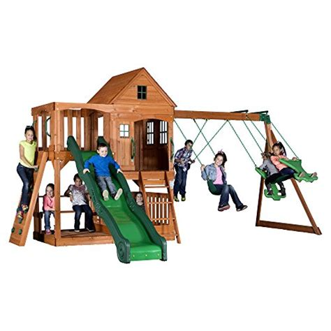 Childrens Wooden Swing Sets And Plans!  Outdoor Wooden