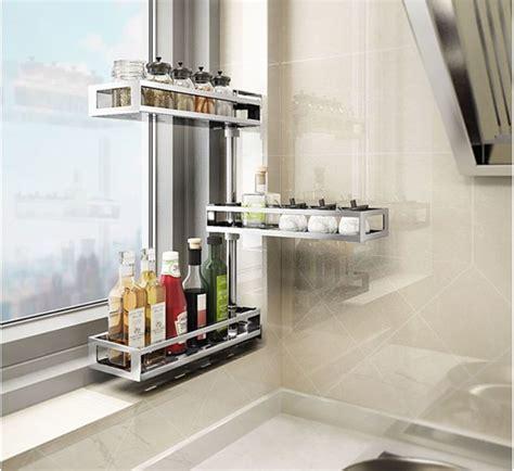 fashion style countertop storage organizer adjustable kitchen counter shelf rack