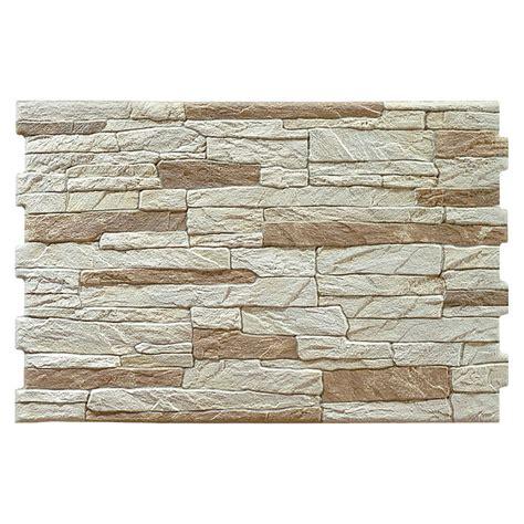 Steinwand Fuer Innen Und Aussen by Wandverkleidung Aitana 33 5 X 50 Cm Beige Glasiert
