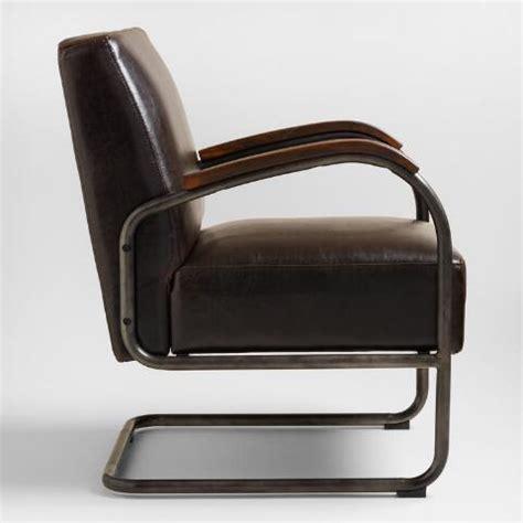 bi cast leather rhett cantilever chair world market