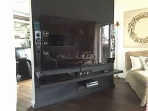 Raumteiler Mit Tv : drehbare tv wand als raumteiler bauanleitung zum selberbauen 1 2 deine heimwerker ~ Yasmunasinghe.com Haus und Dekorationen