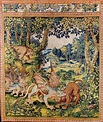 Tapestry with dragon fighting with a panther by Master of ...