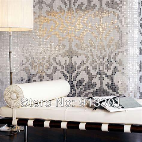 crystal glass tile silver kitchen backsplash cheap 3d wall