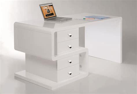 bureau laqué bureau laqué rectangulaire en bois avec tiroirs white