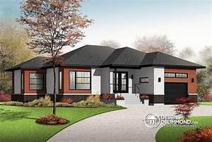 Nouveau modele contemporain avec grand garage 2 chambres for Amazing plans de maison moderne 15 cuisine chalet