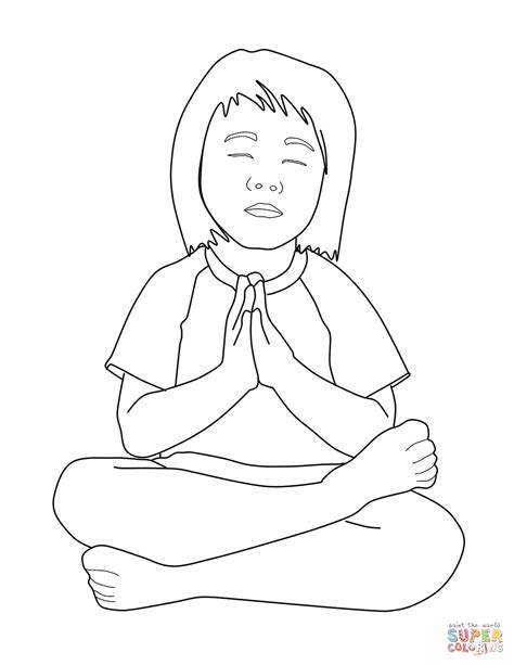 praying child coloring page  printable coloring pages