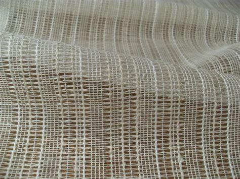 sheer cotton linen blend open weave woven stripe