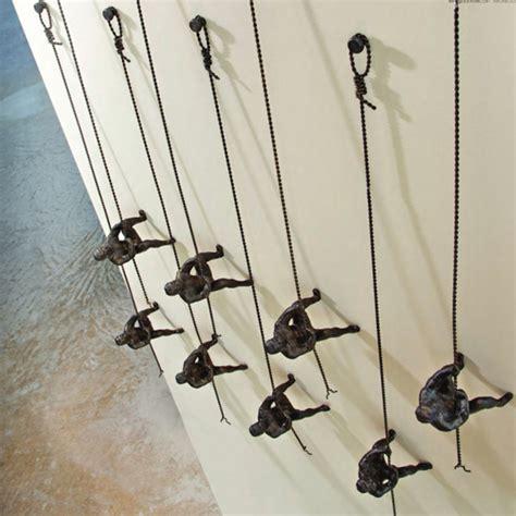 climbing man wall art contemporary artwork atlanta by iron accents