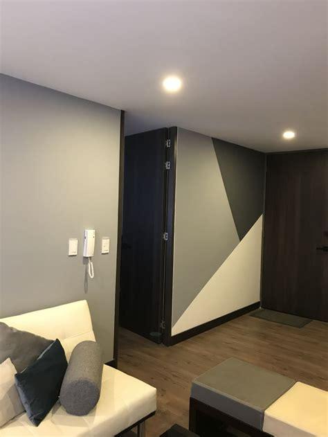 geometria en  pintura paredes interiores decoracion