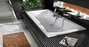 Repeindre Une Baignoire : petite baignoire droite d 39 angle et baignoire sabot tendance ~ Premium-room.com Idées de Décoration
