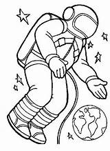 Astronaut Coloring Pages Space Floating Gravity Orbit Spacesuit Zero Printable Clip Cartoon Drawing Clipart Preschool Colouring Travel Shuttle Mission Cliparts sketch template