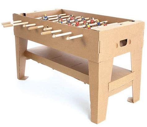 make cardboard foosball table cardboard kartoni foosball table might just save your