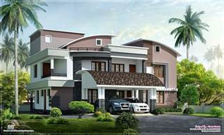 house plans with a porch modern style luxury villa exterior design home kerala plans