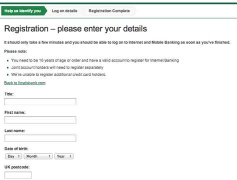 banking registration lloyds
