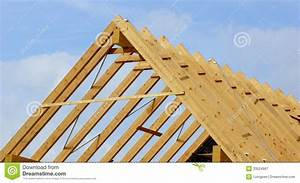 Roof Truss Or Roof Structure Royalty Free Stock