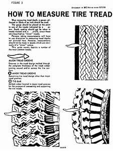 Commercial Truck Tire Tread Depth Illustration For Dot