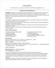 Entry Level Marketing Coordinator Resume Exles by 46 Professional Marketing Resume Free Premium Templates