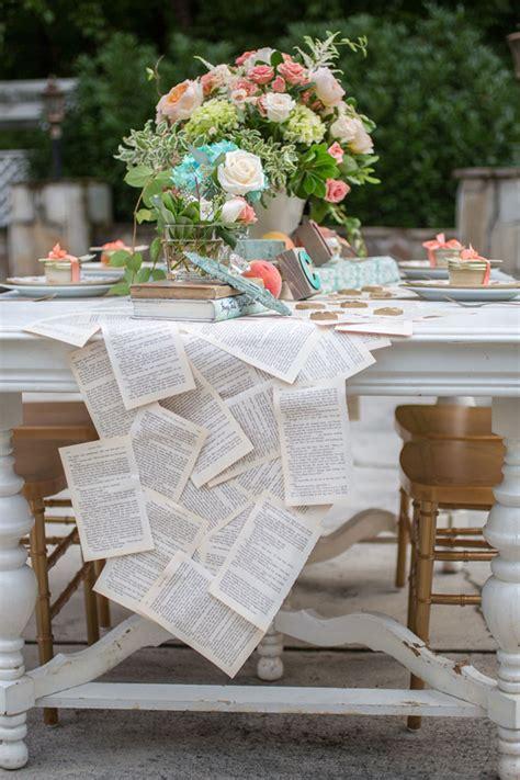 vintage book page table runner diy