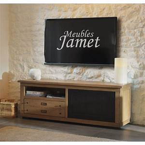 Meuble Tv En Chene : meuble tv style atelier en ch ne r f mt 102 meublesjamet ~ Teatrodelosmanantiales.com Idées de Décoration
