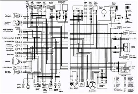 Wiring Diagram With Schematic For A 1998 400 4x4 Arctic Cat Atv by Suzuki Vs700 Intruder Motorcycle 1987 Complete Electrical
