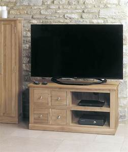 Buy Baumhaus Mobel Oak 4 Drawer Television Cabinet Online