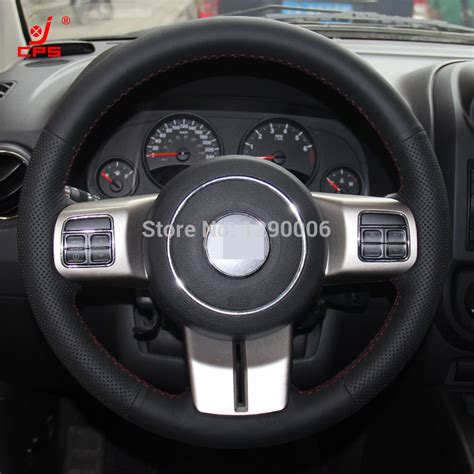 jeep patriot steering wheel black leather steering wheel cover for jeep compass grand
