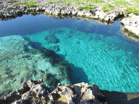 Maria La Gorda, Cuba   An untouched rock pool near the edge of a