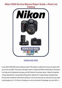 Nikon D200 Service Manual Repair Guide Parts By Enda Dito