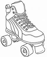 Roller Skate Coloring Pages Skates Derby Skating Drawing Colouring Sketch Sheets Quad Tattoo Clipart Printable Drawings Shoes Books Jamestown Cake sketch template