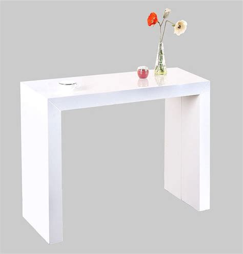 horloge cuisine pas cher table console extensible shely blanc laquee table
