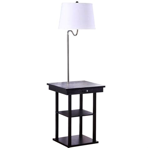 floor l end table in modern side table floor l with white shade and usb ports lights and ls