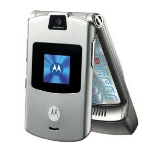 motorola razr vxx silver  att flip cell phone