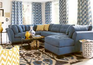 cindy crawford metropolis indigo 3pc sectional living