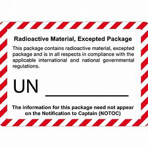 radioactive excepted package roll x250 handling labels With 5x7 shipping labels
