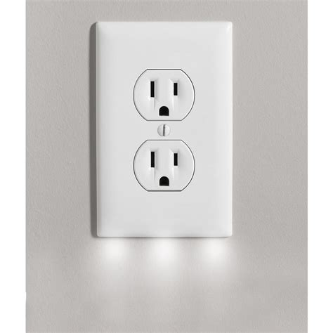 outlet cover with 3 led lights outlet