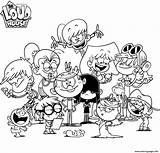 Loud Coloring Pages Nickelodeon Printable Print Neo sketch template